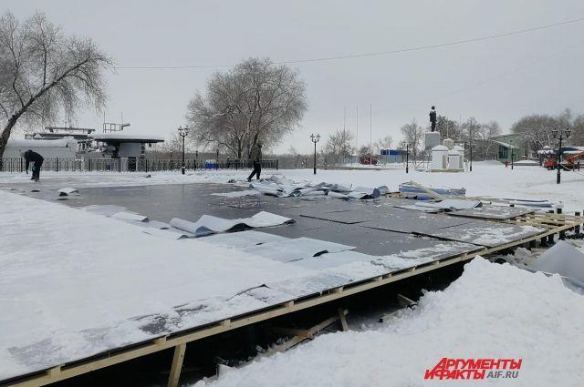 Демонтированный каток на Беловке установят в другом месте