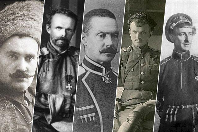 Григорий Семенов, Барон фон Унгерн, Павел Иванов-Ринов, Иван Калмыков, Борис Анненков.