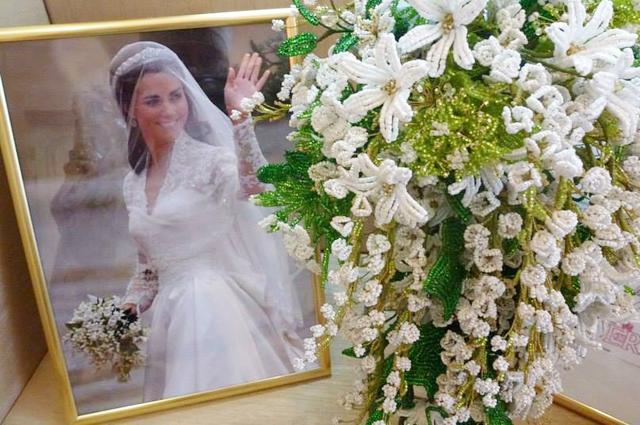 Копия свадебного букета Кейт Мидлтон находится в Букингемском дворце.