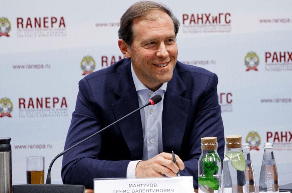 Министр промышленности и торговли Денис Мантуров.