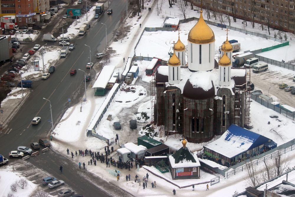 Обыденный храм в честь блаженной матроны Московской на улице Баязита Бикбая.