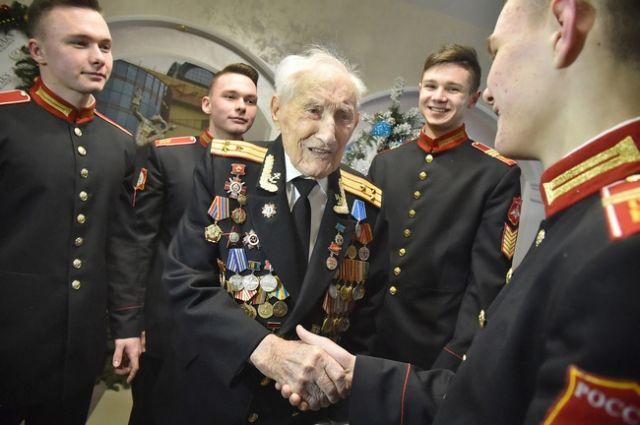 5 января свой 100-летний юбилей  отмечал фронтовик Иван Иванович Смирнов