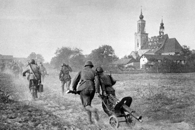 Бои на подступах к Варшаве.