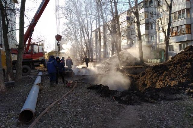 В Оренбурге ликвидирован прорыв теплопровода на ул. Тепличной.