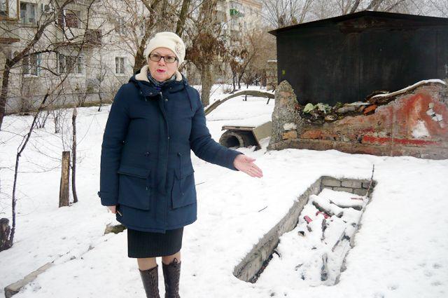 Вот что Анна Коноваленко обнаружила на месте гаража.
