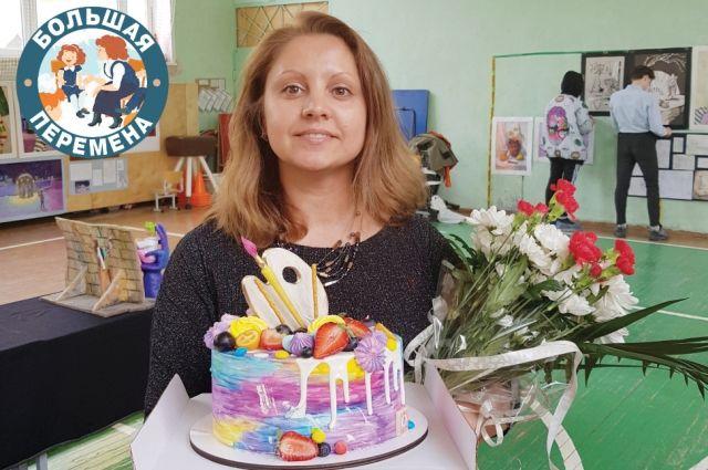 «Живописный» торт – лучший подарок педагогу-художнику.