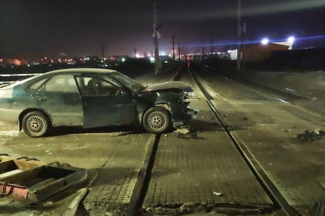 В Черемхово иномарка врезалась в железнодорожный шлагбаум