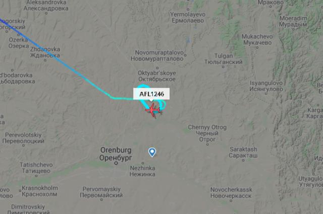В аэропорту Оренбурга не смог приземлиться самолет.