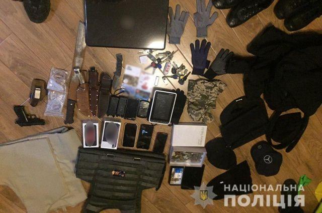 В Киевской области полиция задержала банду вооруженных грабителей