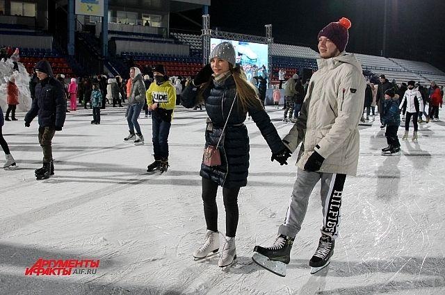 В Оренбурге 24 января пройдет «Вечер на коньках».