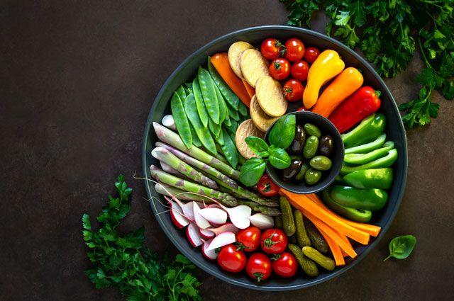 Крудите — овощная тарелка.
