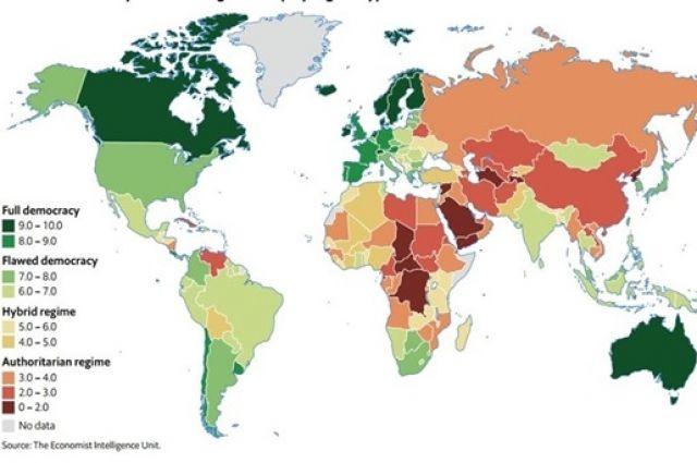 Украина улучшила позицию в международном рейтинге демократии