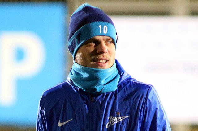 Александр Кокорин на тренировке.