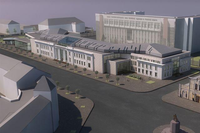 Макет здания музейного центра