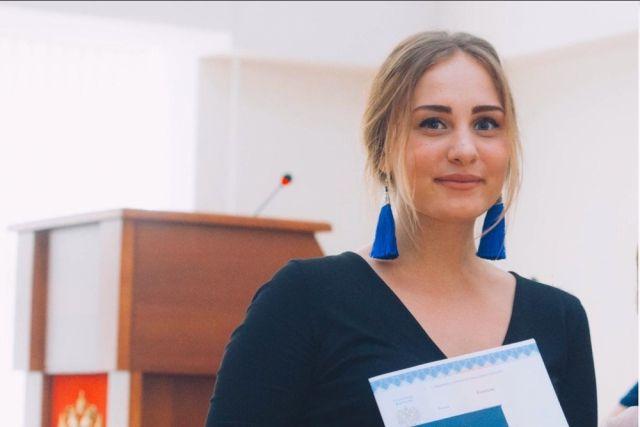 Анастасия Соколовская - финалистка Российской национальной премии «Студент года-2019». ©