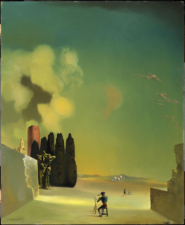 Пейзаж с загадочными элементами. 1934