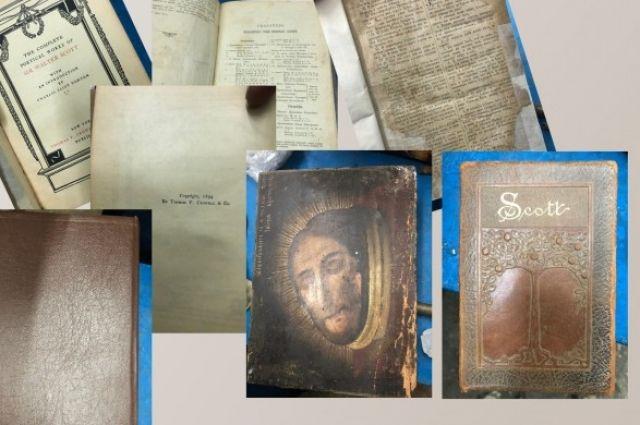 Из Украины хотели вывезти антикварный сборник изданий Вальтера Скотта