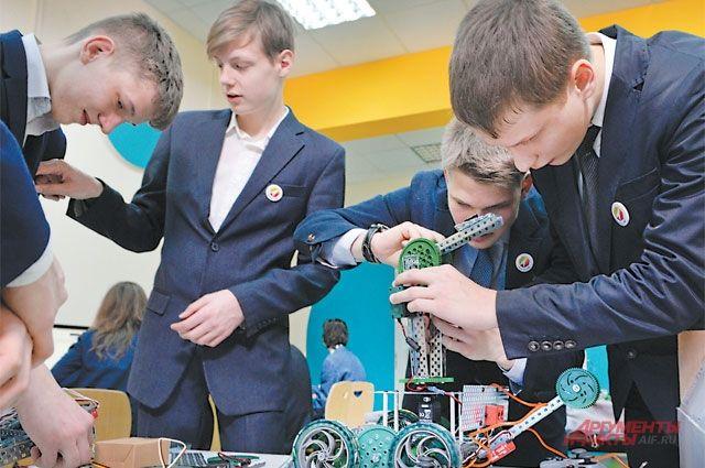 Урок робототехники в школе № 1560 «Лидер».