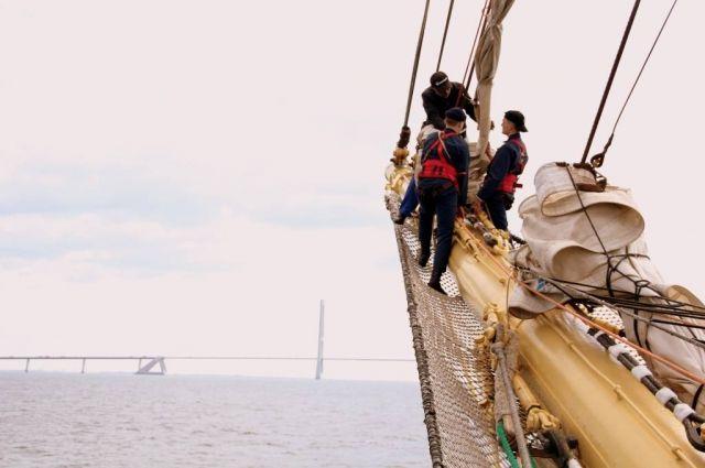 На парусниках Росрыболовства отметили День 200-летия открытия Антарктиды