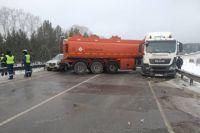 Столкновение произошло на 784-м км трассы Р-255 «Сибирь».