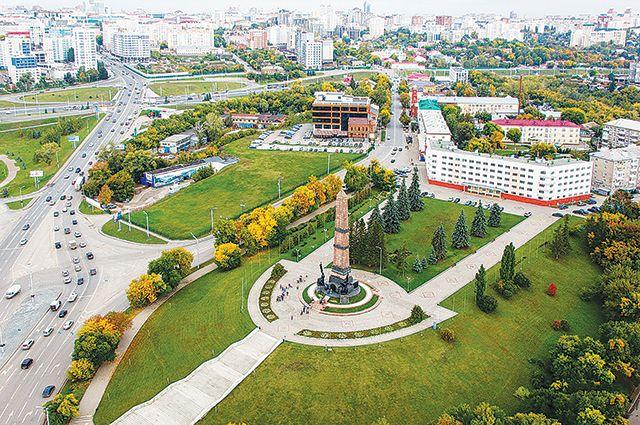 Монумент Дружбы народов в Уфе.