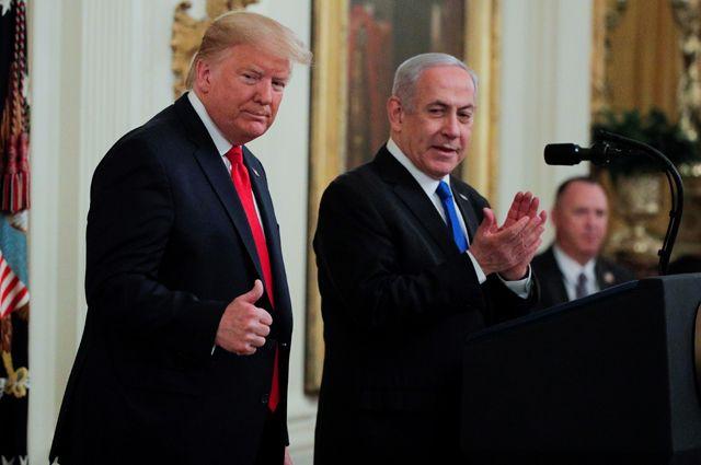Дональд Трамп и Биньямин Нетаньяху.
