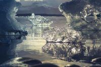 В бухте Гертнера сейчас около шести больших опасных трещин, но любителей зимнего клёва это не останавливает.