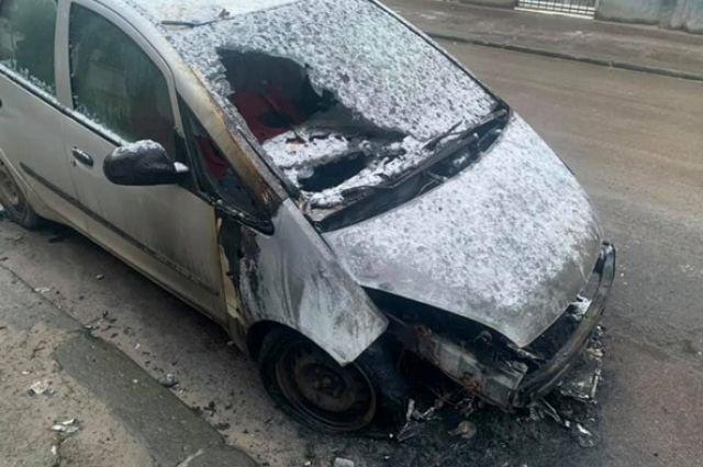 Во Львове подожгли автомобиль журналистки