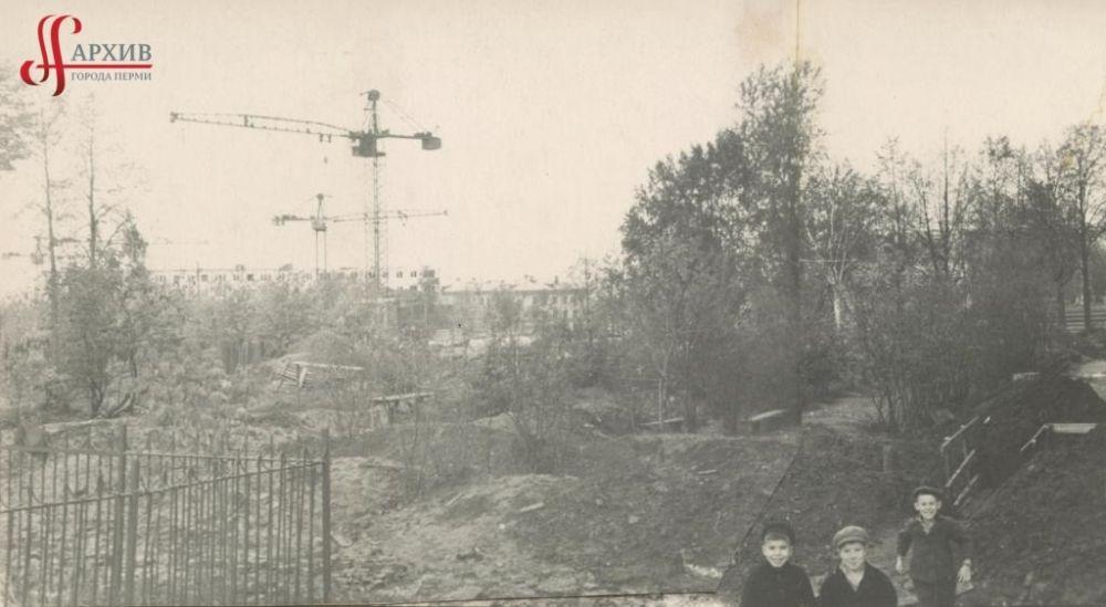 Строительство пятиэтажных домов по улице Механошина, 3 октября 1965 г.