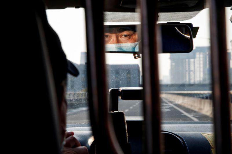 Таксист в городе Чанша в провинции Хунань .