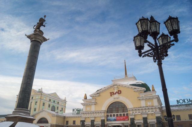 Через Красноярск проходит поезд Москва - Пекин.