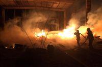В Киеве произошел пожар в депо: детали происшествия