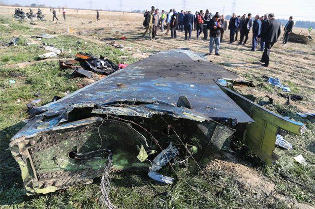 На месте крушения украинского Boeing 737.