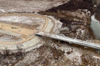 Строительство объезда Мариинска ведется с 2015 года.