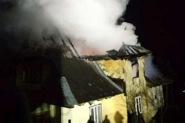 В Ивано-Франковской области произошел пожар в жилом доме: есть пострадавшие