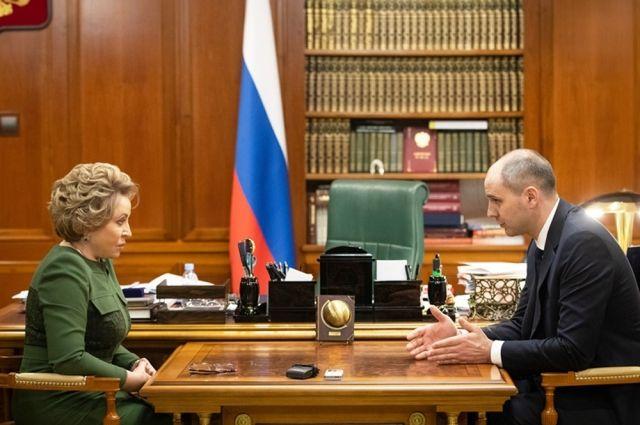 Денис Паслер рассказал Валентине Матвиенко об успехах в нацпроектах.