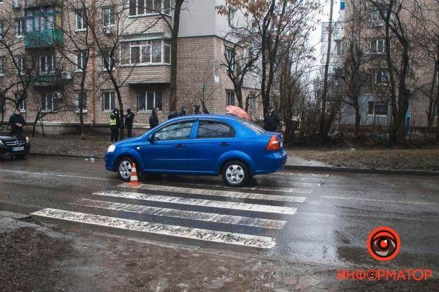 В Днепре водитель сбил ребенка, который шел в школу