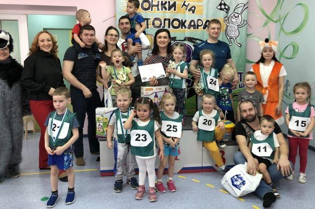 Малыши из тюменского детского сада стали участниками «Гонок на толокарах»