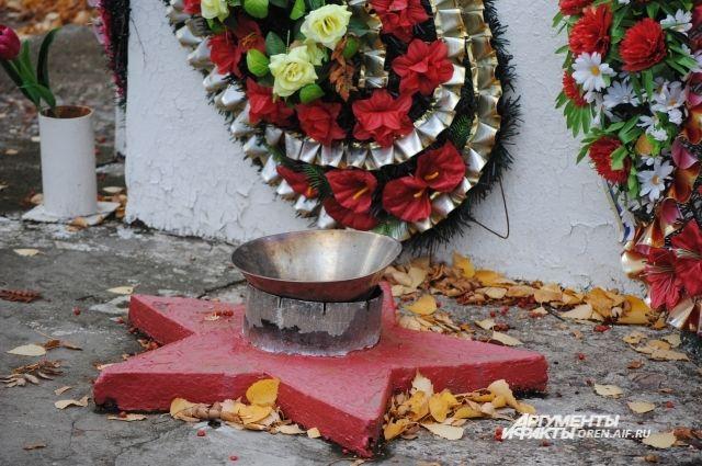 Памятник воинам-освободителям в селе Ташла Тюльганского района.