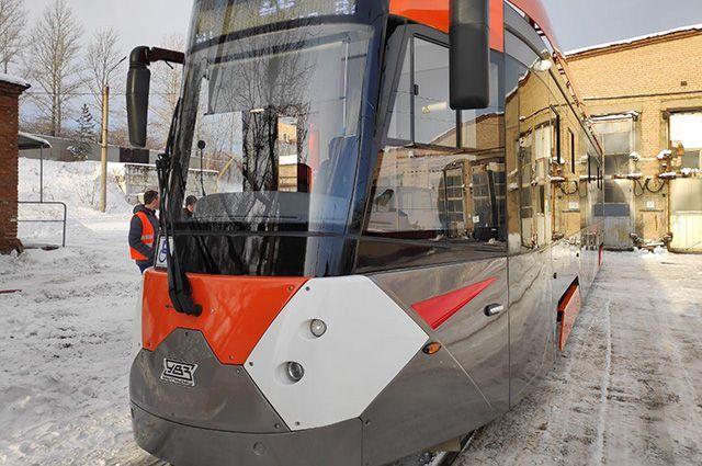 Трамвай доставили в Челябинске в декабре 2019 года.
