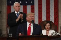 Дональд Трамп выступает в конгрессе США.