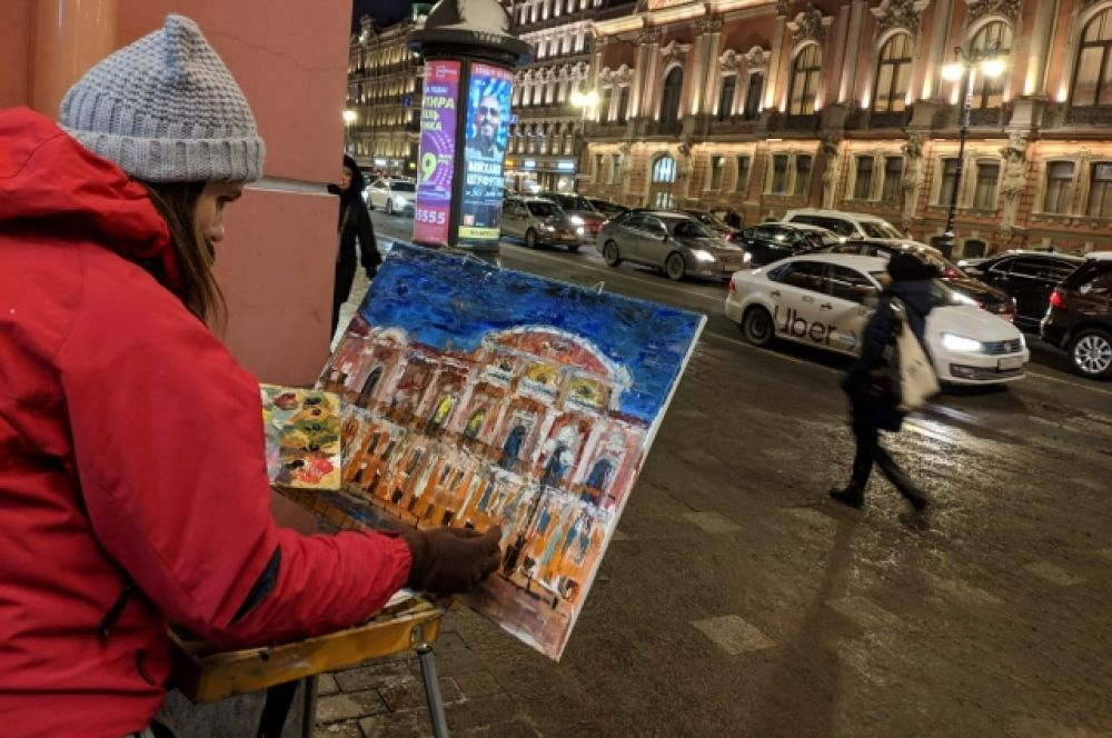 В Санкт-Петербурге состоялся необычный флешмоб.