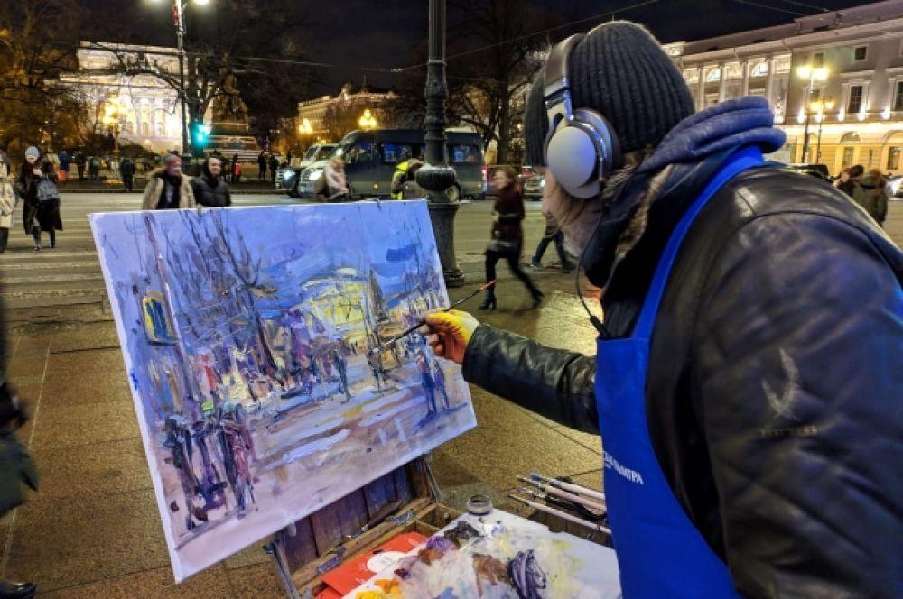 И рисовали на полотнах Невский проспект.