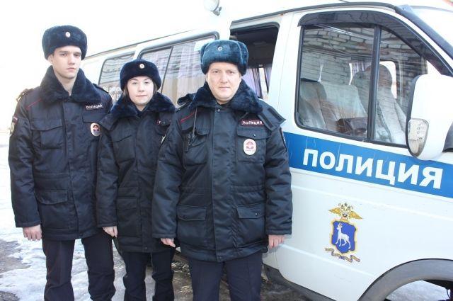 Сержант полиции Максим Затылкин, младший сержант полиции Анастасия Федосова, прапорщик полиции Сергей Баннов