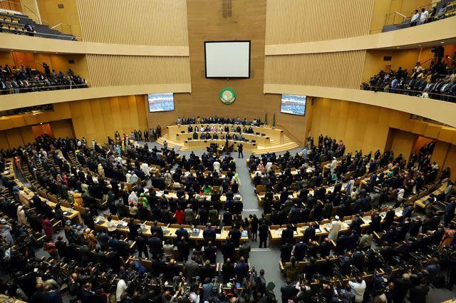 На саммите Африканского союза.