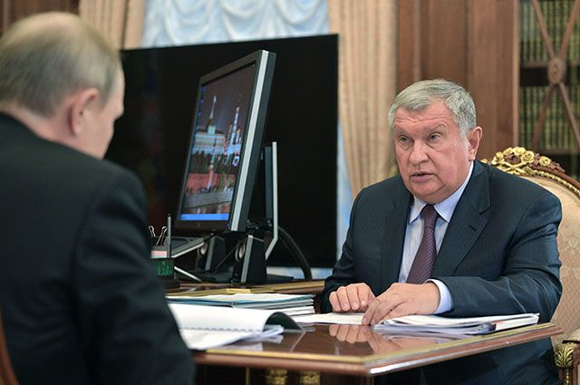 Игорь Сечин и Владимир Путин.