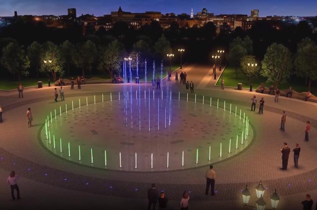Проект круглого фонтана