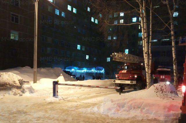 Пожар произошёл в больнице №4.