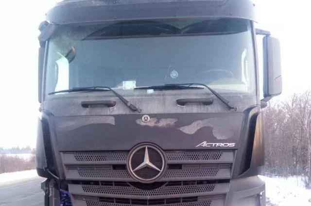 43-летний водитель грузовика Mercedes Benz сбил 63-летнего пешехода.