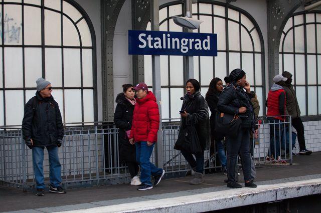 Станция «Сталинград» впарижском метро.